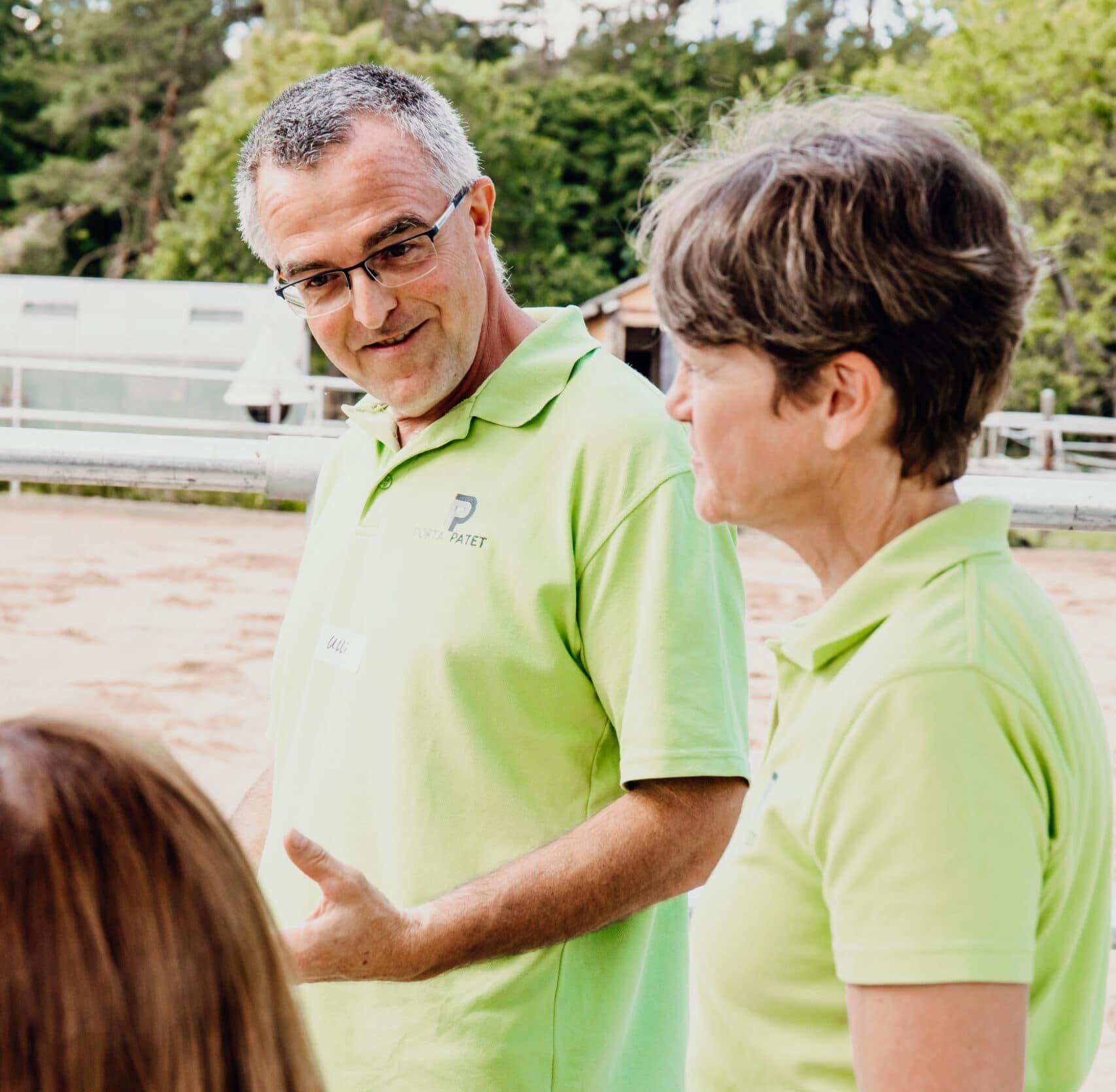 arite und ulrich beim Coaching